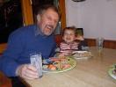 Tim mit Roli am Nachtessen